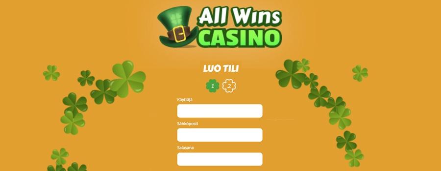 Allwins Casino kirjautumiskuva