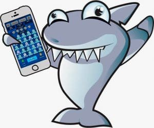 shark with a phone
